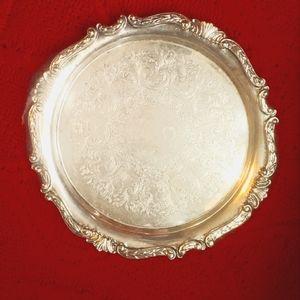 Vintage Solid Silver Serving Platter